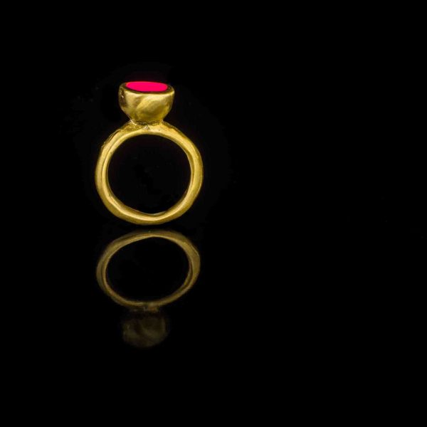 gioielli artigianali anello smalto rosa di pesci che volano